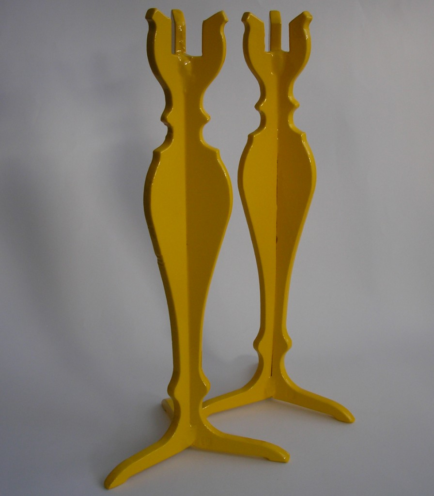 Powder Coated Yellow Candle Sticks